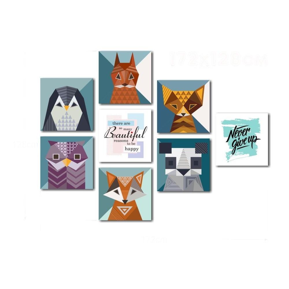 Sada skleněných obrazů Insigne Animals