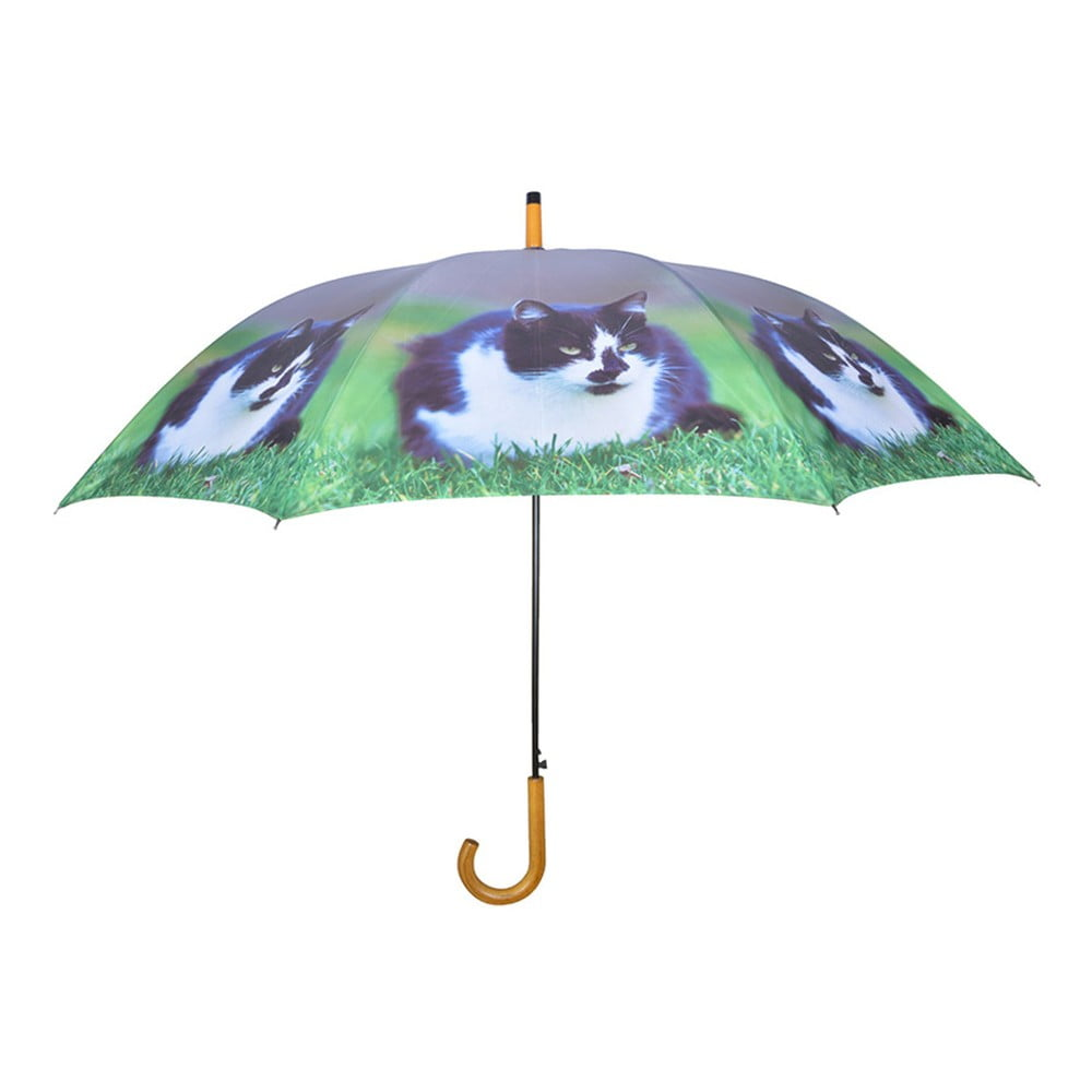 Tmavě modrý deštník s kočkami Esschert Design, ⌀ 120 cm