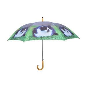 Tmavě modrý deštník s kočkami Ego Dekor, ⌀ 120 cm