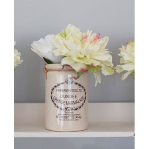 Keramicka váza s umělou květinou Peony, 20 cm
