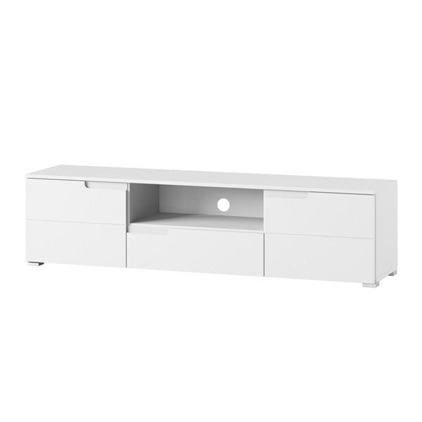 Bílý TV stolek Szynaka Meble Selene
