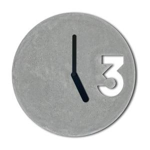 Ceas din beton cu indicatoare negre Jakub Velinsky