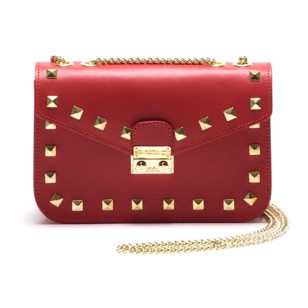 Kožená kabelka Anna Luchini 3044 Rosso