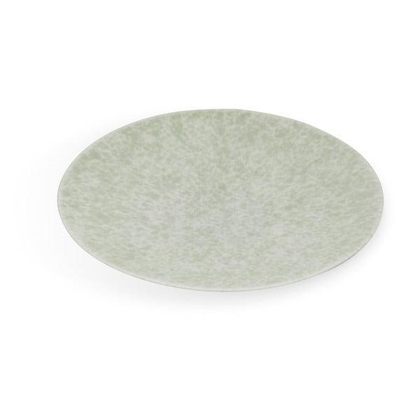 Zelený porcelánový talíř Kähler Design Unico, ⌀ 30 cm