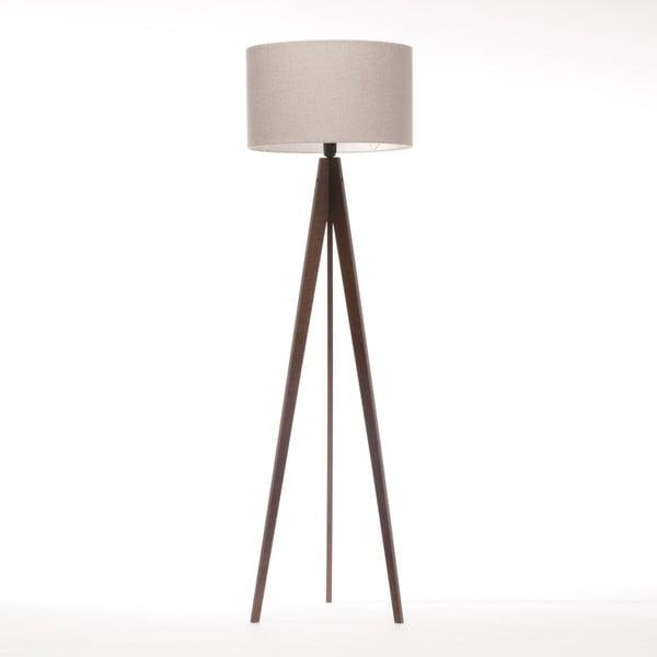 Krémová stojací lampa 4room Artist, hnědá lakovaná bříza, 150 cm