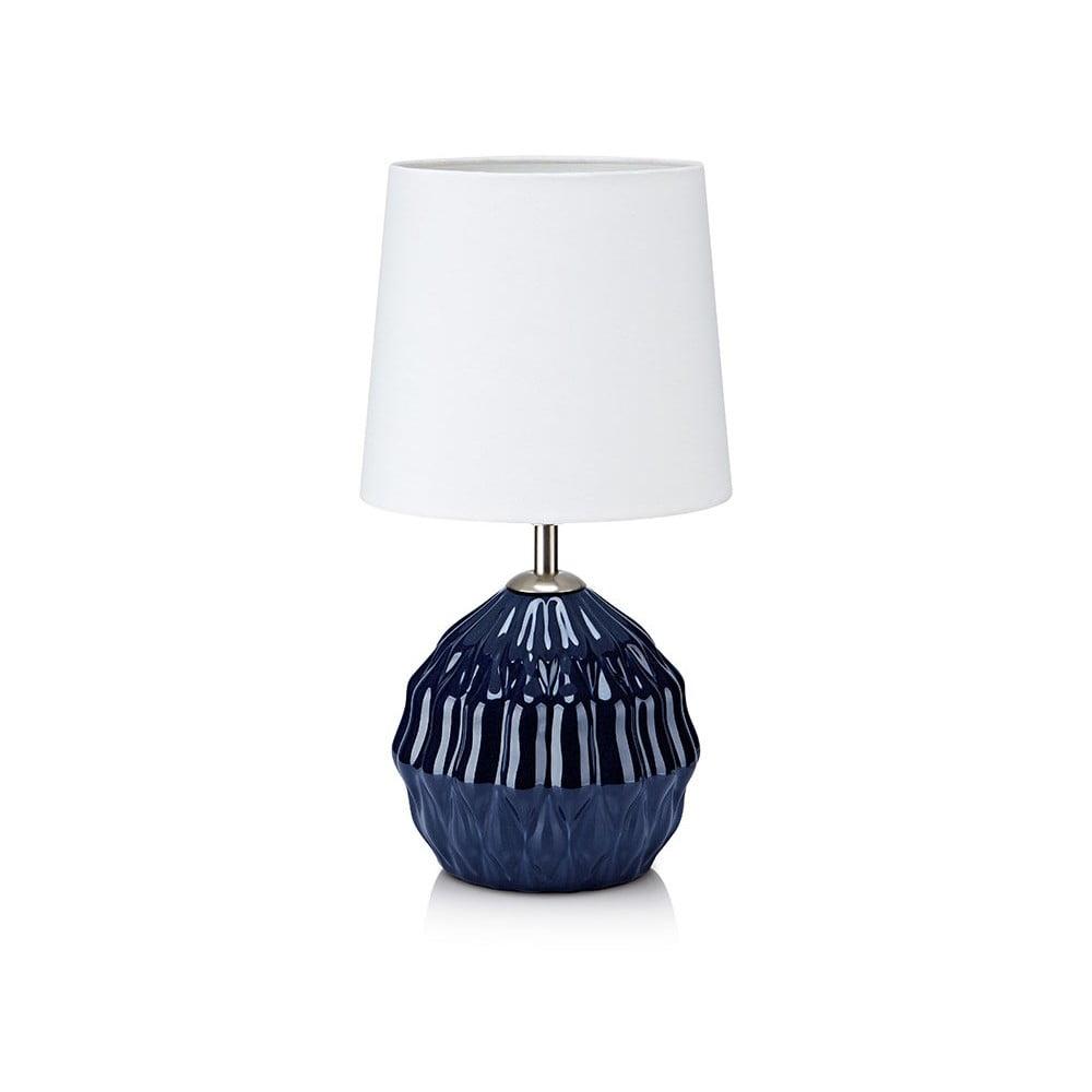 Modro-bílá stolní lampa Markslöjd Lora
