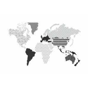 Nástěnná samolepka Dekornik Map Dark, 120x70cm