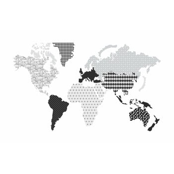 Autocolant pentru perete Dekornik Map Dark