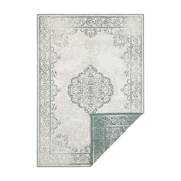 Zeleno-krémový venkovní koberec Bougari Cebu, 80 x 150 cm