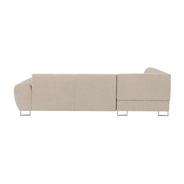 Béžová rohová rozkládací pohovka s úložným prostorem Kooko Home XL Right Corner Sofa