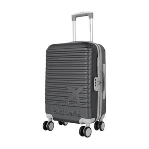 Šedé kabinové zavazadlo na kolečkách Travel World Aiport