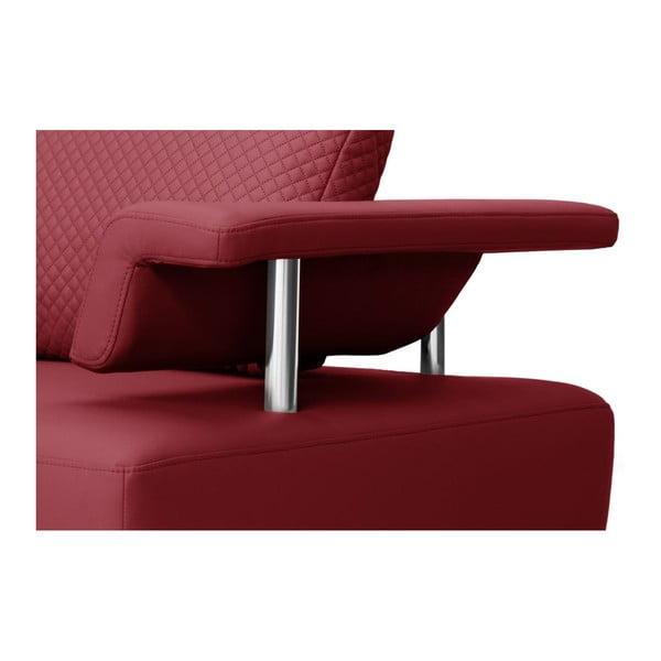 Červená pohovka Florenzzi Einaudi s lenoškou na pravé straně