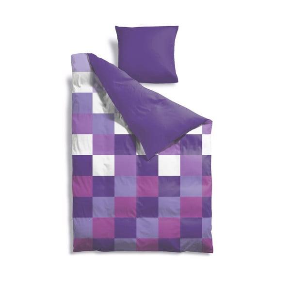Prodloužené povlečení Purple Pixel, 140x220 cm