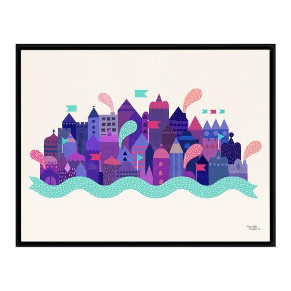 Plakát Michelle Carlslund Purple City, 30x40cm