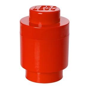 Červený úložný kulatý boxík LEGO®