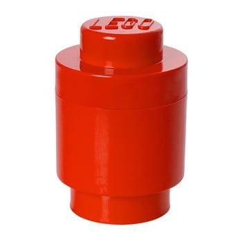 Cutie depozitare rotundă LEGO®, roșu, ⌀ 12,5 cm de la LEGO®
