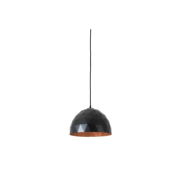 Černé závěsné svítidlo s detailem v měděné barvě Custom Form Leonard, ø 35 cm
