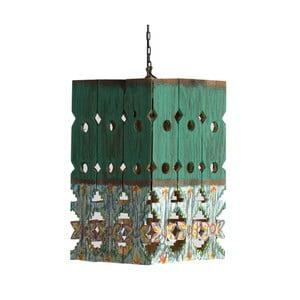 Zelené závěsné svítidlo ze dřeva VICAL HOME Lampur