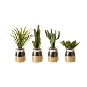 Set 4 flori decorative în ghiveci Unimasa Artificial imagine