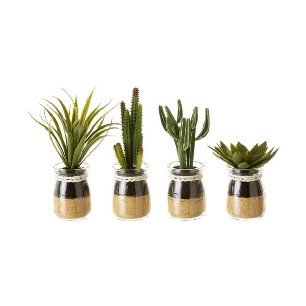 Set 4 flori decorative în ghiveci Unimasa Artificial