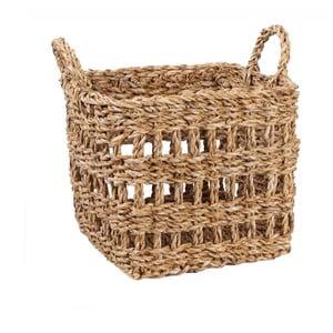 Úložný košík z mořské trávy Slowdeco Square, vel. S