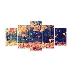 Vícedílný obraz La Maison Des Couleurs Falling Leaves