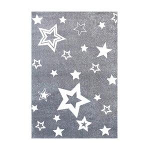 Šedý dětský koberec Happy Rugs Satrlight, 130x190cm