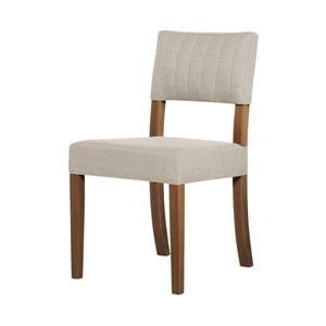 Krémová židle s tmavě hnědými nohami Ted Lapidus Maison Néroli