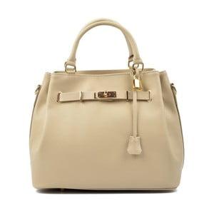 Béžová kožená kabelka Isabella Rhea Hannah