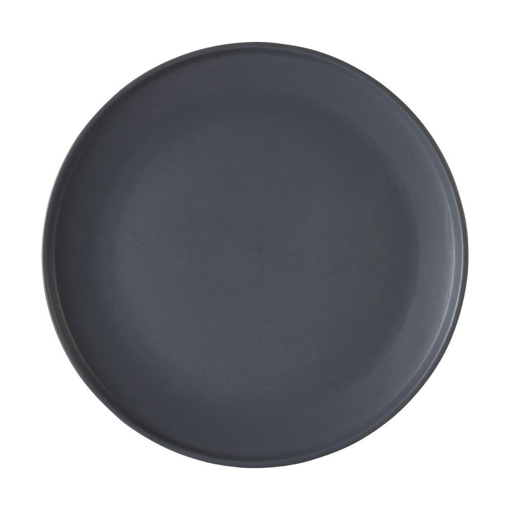 Šedý talíř z kameniny Premier Housewares Malmo, Ø 27 cm