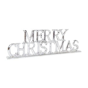 Dekorace Archipelago Silver Merry Christmas