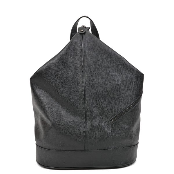 Damski ciemnoszary plecak skórzany Carla Ferreri Giorgia