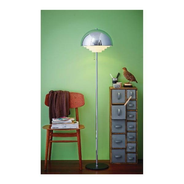 Stříbrná stojací lampa Herstal Motown