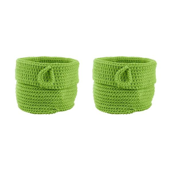 Sada 2 košíků Confetti Lime, 13 cm