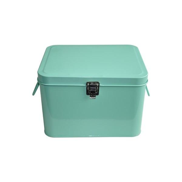 Plechový úložný box Waterquest, mátový