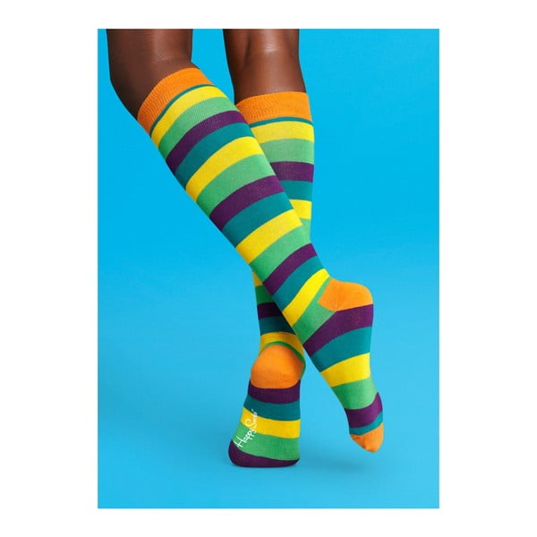 Nadkolenky Happy Socks Stripes, vel. 36-40