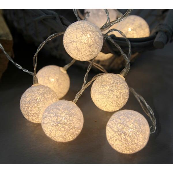 Bílý  světelný LED řetěz Best Season Crystal, 10 světýlek