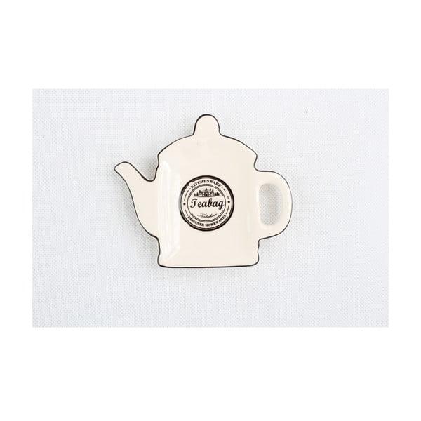 Keramický tanierik na odkladanie čajových vreciek Dakls Water