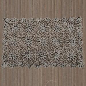 Šedohnědé krajkové prostírání InArt, 30 x 45 cm