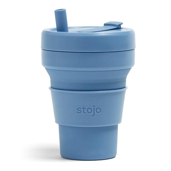 Modrý skládací hrnek Stojo Biggie Steel, 470 ml