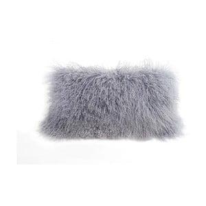 Šedý vlněný polštář z ovčí kožešiny Auskin Desmon,28x56cm