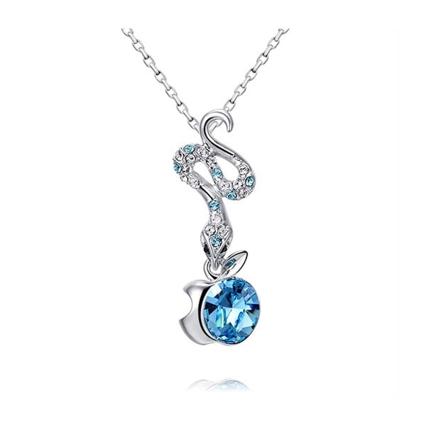 Wisiorek z kryształami Swarovski Elements Crystals Snake