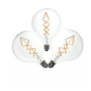 Set 3 becuri LED  Bulb Attack BUBBLE Lattice, 6,5 W