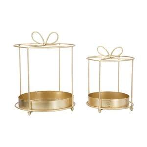 Sada 2 odkládacích stolků ve zlaté barvě Mauro Ferretti Gift Glam