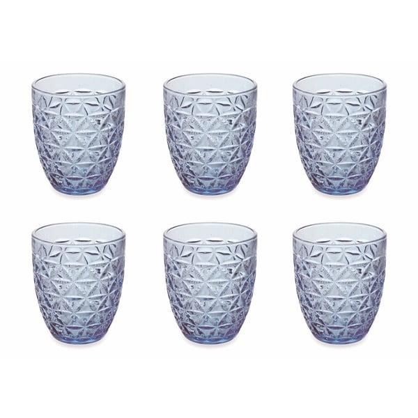 Zestaw 6 jasnoniebieskich szklanek Villa d'Este Gemma