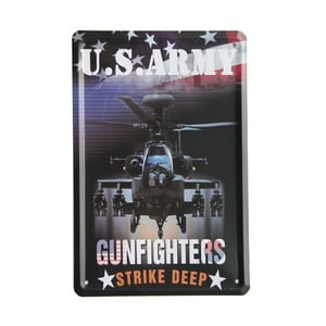 Cedule US Army Gunfighters, 15x21 cm