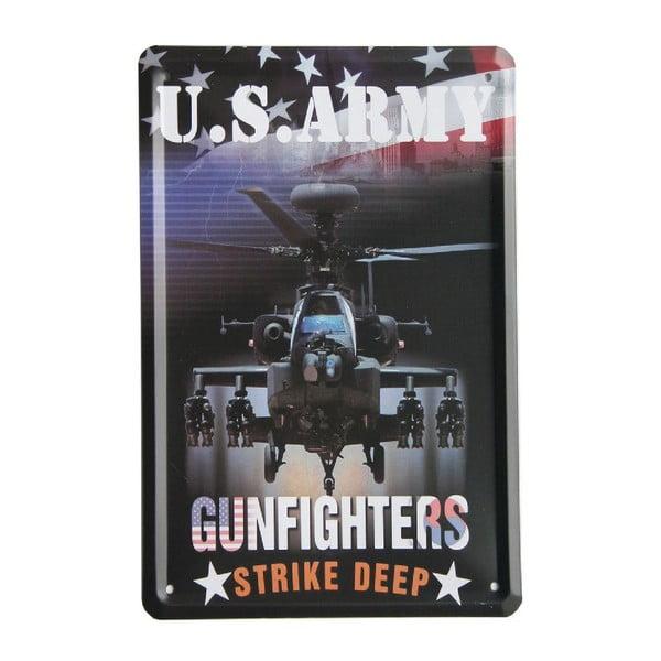 Cedule US Army Gunfighters, 15x21 cm