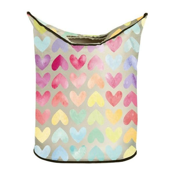 Koš na prádlo Rainbow Hearts