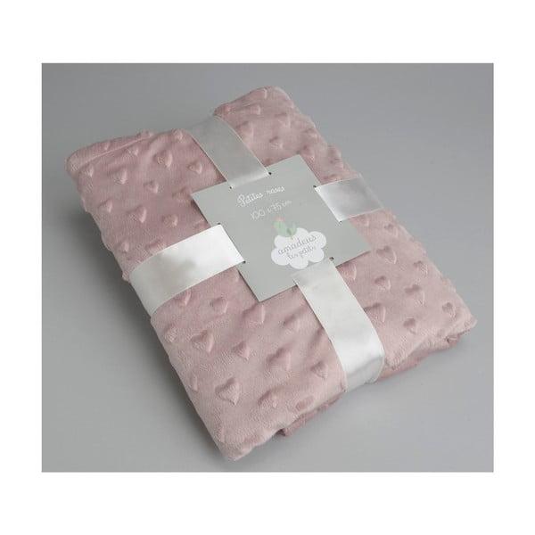 Deka Pink Small Hearts, 100x75 cm