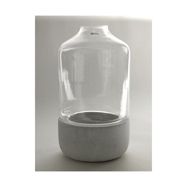 Váza Glass Stone, 21x28 cm